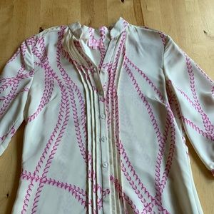 Parker pearl blouse pink/cream